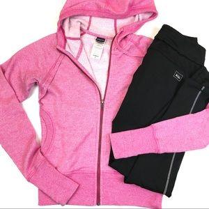 Patagonia Full Zip Hooded Sweatshirt Pink Small
